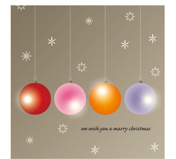 クリスマスを表現した6種類の背景  Santa Claus  tree, Christmas material 5