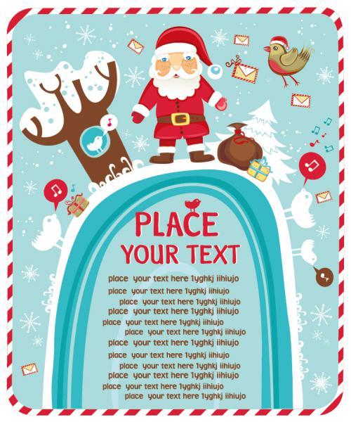 サンタクロースを描いたクリスマスの背景 Santa Claus Christmas background1