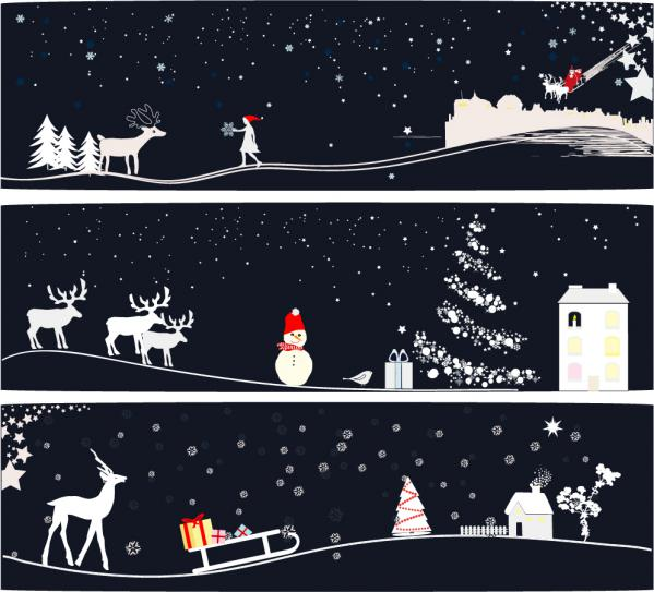 サンタクロースを描いたクリスマスの背景 Santa Claus Christmas background2