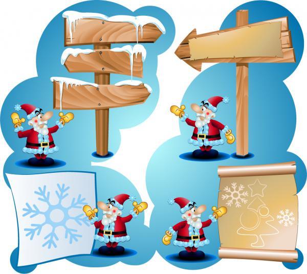 サンタクロースを描いたクリスマスの背景 Santa Claus Christmas background3