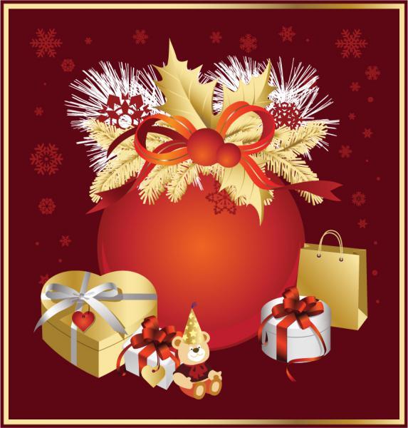 飾り付けたクリスマス・プレゼント Christmas Decoration gift bag