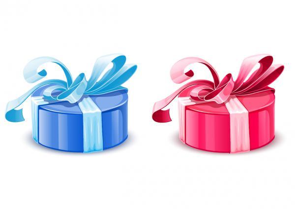 二色の豪華なプレゼント ribbon with festive holiday gift