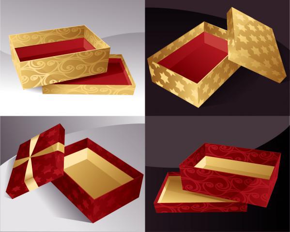 豪華なプレゼント箱 gift packaging box Vector