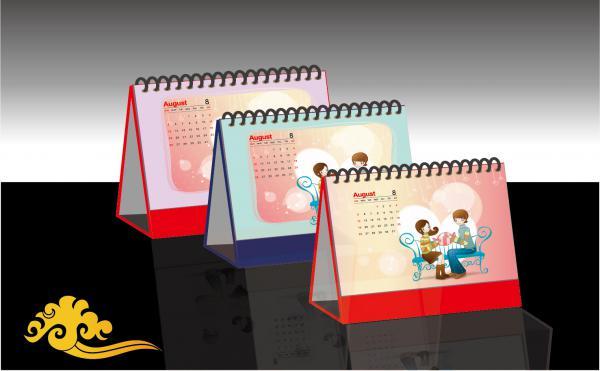 卓上カレンダーのイラスト CALENDAR DESIGN EFFECT DIAGRAM