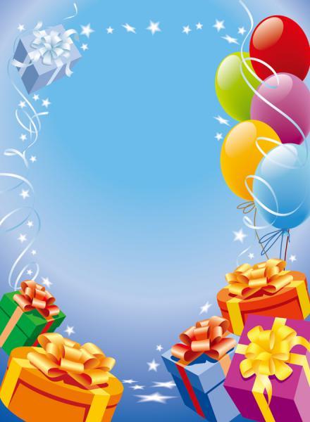 風船とリボン飾りのプレゼントの背景 VECTOR LACE GIFT BALLOON MATERIAL