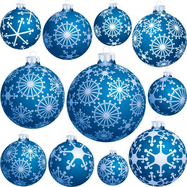 雪の上のクリスマス ボール beautiful christmas ball vector1