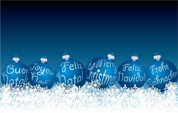 雪の上のクリスマス ボール beautiful christmas ball vector2