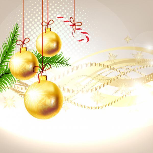 手書きのツリーと輝くクリスマス素材の背景 bright christmas background vector2