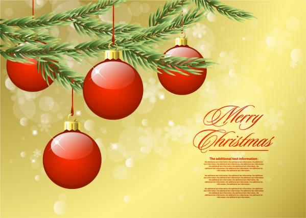 赤いクリスマス ボールの背景 beautiful christmas background