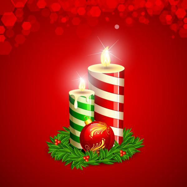 クリスマス・キャンドル Christmas decorations ornaments candles