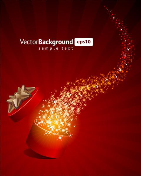 星がきらめくクリスマスボールの背景ギフト ボックス festive christmas gift background3