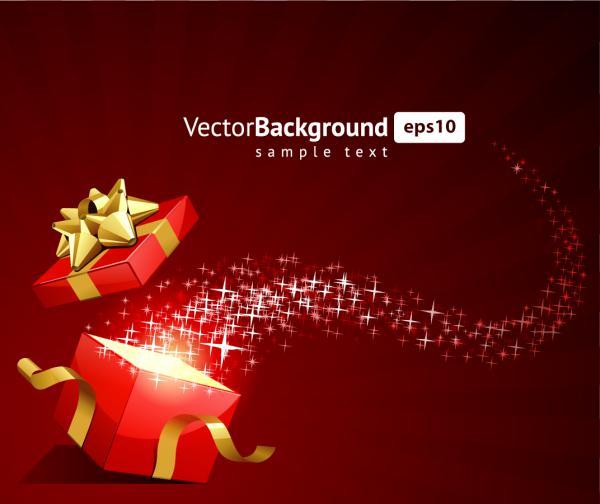星がきらめくクリスマスボールの背景ギフト ボックス festive christmas gift background5