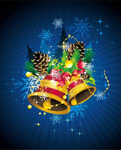 クールなクリスマス飾りの背景 christmas ornaments beautiful background2