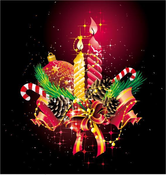 クールなクリスマス飾りの背景 christmas ornaments beautiful background3