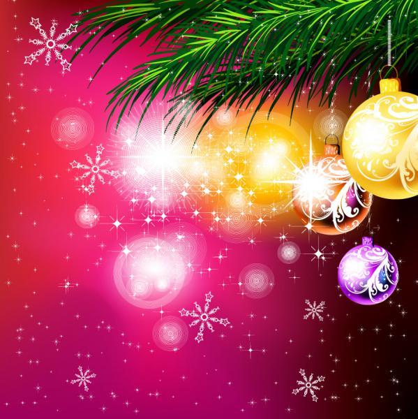 クールなクリスマス飾りの背景 christmas ornaments beautiful background4