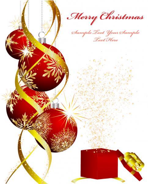 クールなクリスマス飾りの背景 christmas ornaments beautiful background5