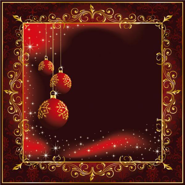 美しい真紅のクリスマス ボールの背景 beautiful christmas ball background1
