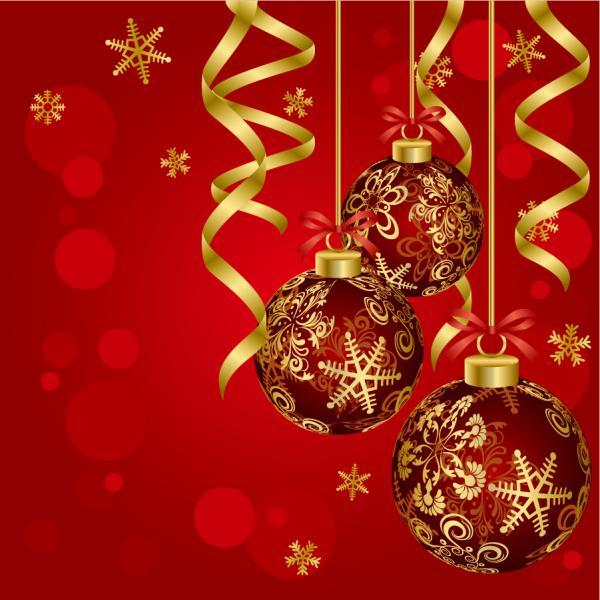 美しい真紅のクリスマス ボールの背景 beautiful christmas ball background2