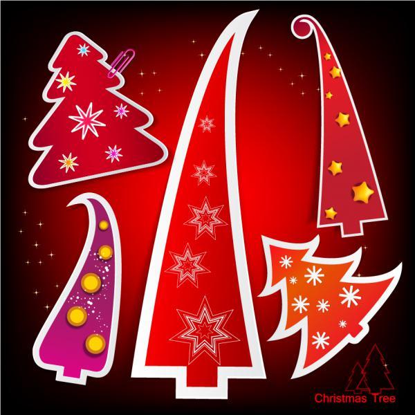 紙作りのクリスマス・ツリー ラベル Christmas tree label