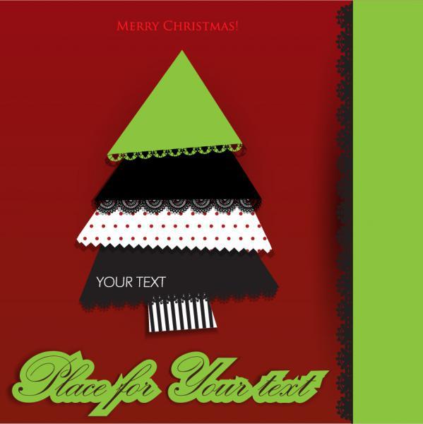 パッチワーク風のクリスマス・ツリー lace christmas tree puzzle