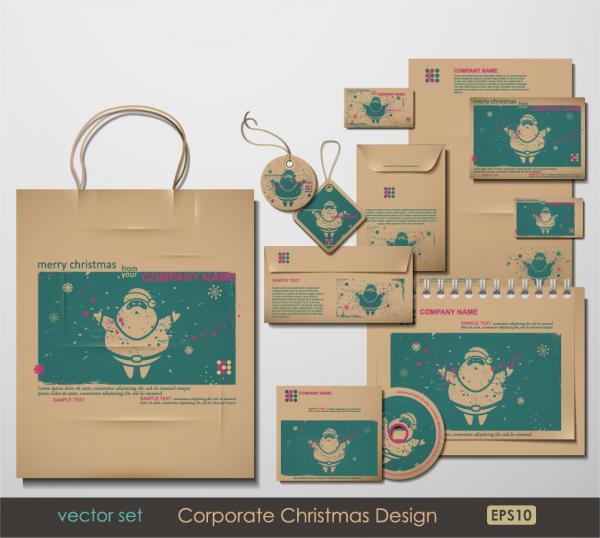 クリスマス デザインのビジネス周りのテンプレート christmas around the product