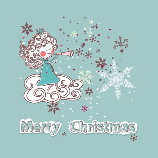 クリスマスに因んだ天使のステッカー christmas Angels stickers