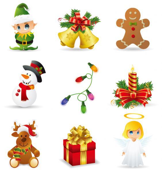 クリスマス デザイン素材 キャラクター アイコン christmas design elements2