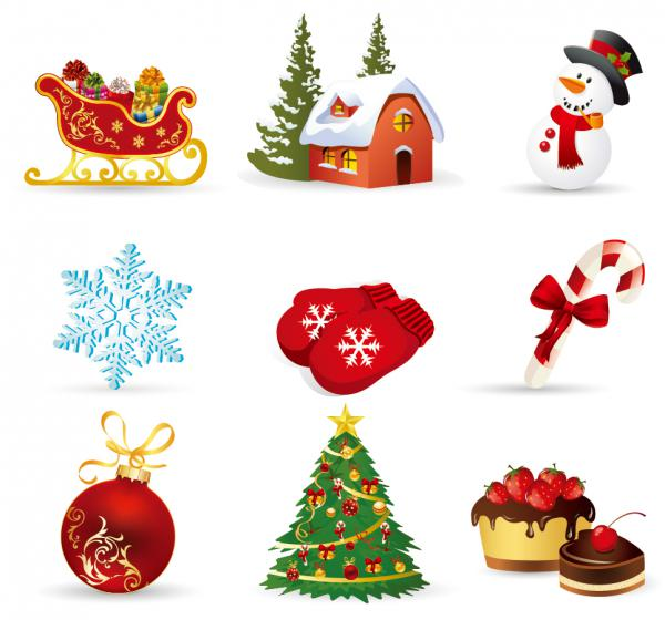 クリスマス デザイン素材 キャラクター アイコン christmas design elements1
