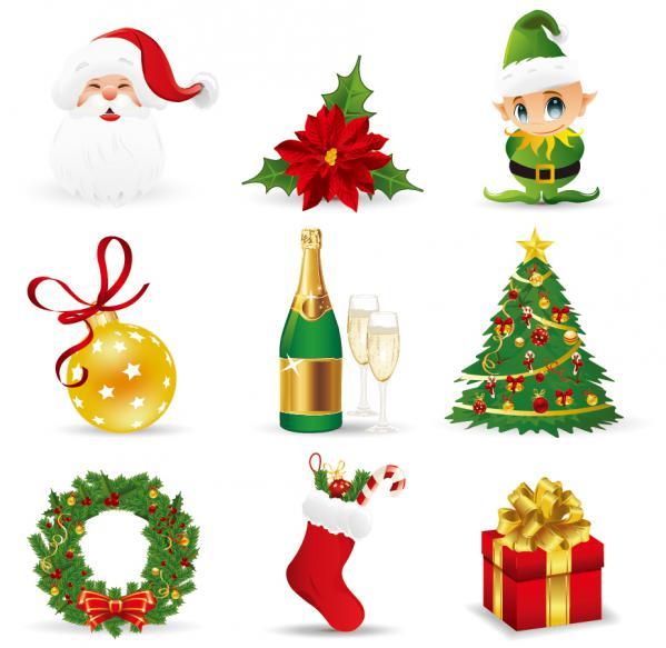 クリスマス デザイン素材 キャラクター アイコン christmas design elements4