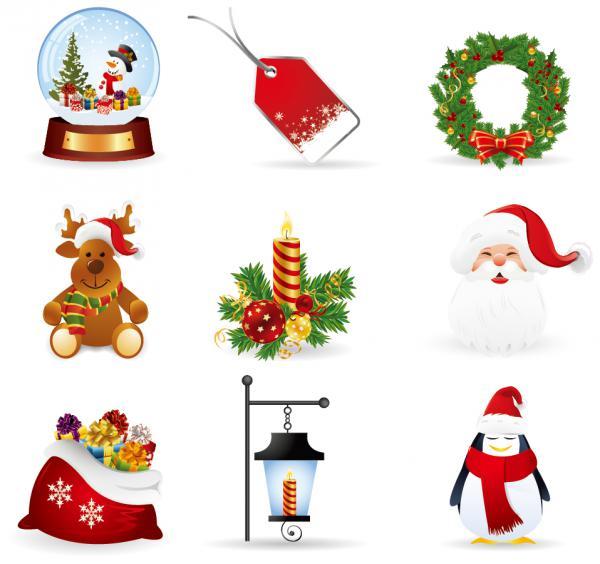クリスマス デザイン素材 キャラクター アイコン christmas design elements3