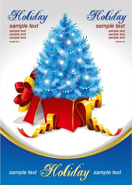 クリスマス・ツリーとギフトボックス gift christmas tree vector