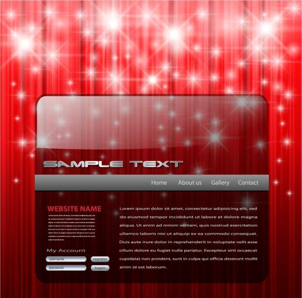 クリスマス スタイルのウェブ デザイン素材 christmas style web design elements1
