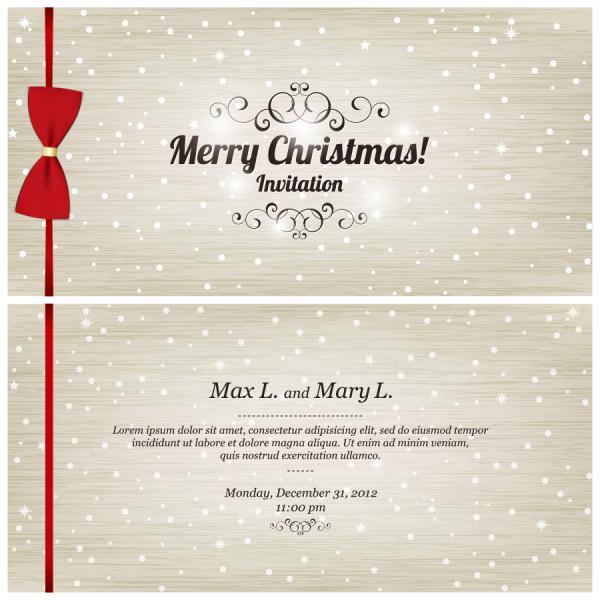 クリスマスと新年のデザイン セット Christmas and New Year design set vector01