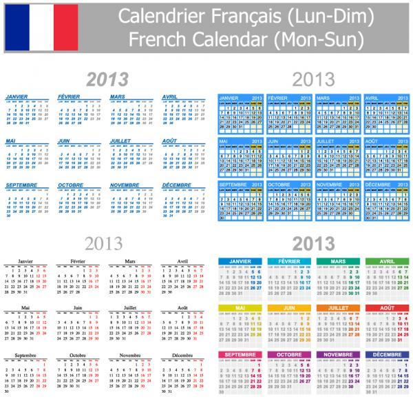 各国語対応カレンダー テンプレート Multilingual 2013 calendar templates3