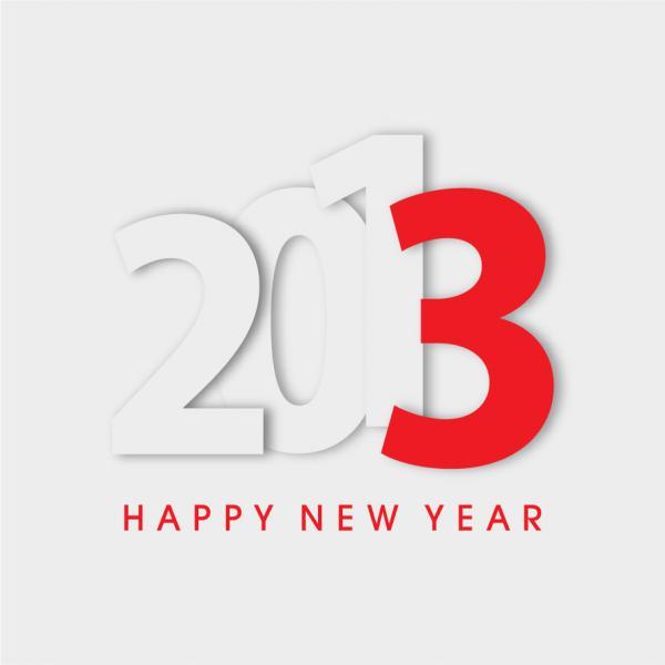新年の数字を表現した背景 New Year placards and posters with 2013 4