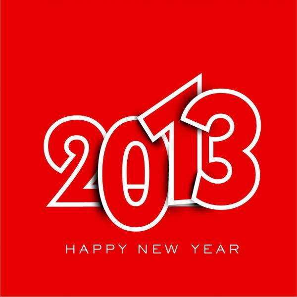 新年の数字を表現した背景 New Year placards and posters with 2013 5