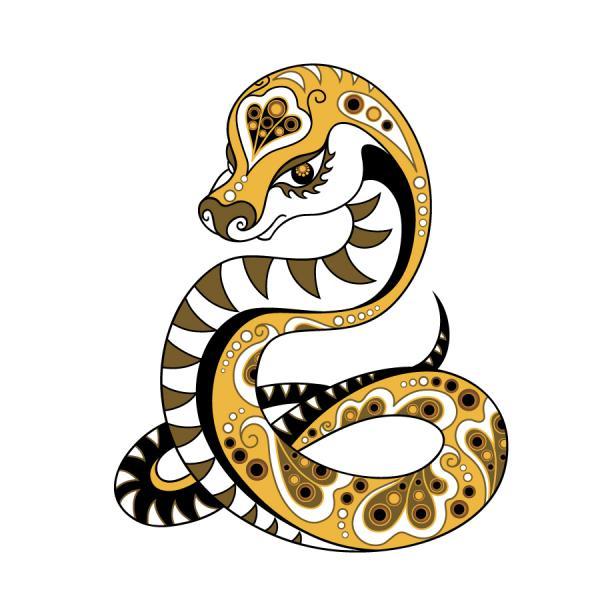 新年の数字を干支のへびで描いたイラスト 2013 snake illustrations in cartoonish style2