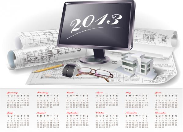 2013年のカレンダー デザイン Creative Calendar 2013 design vector