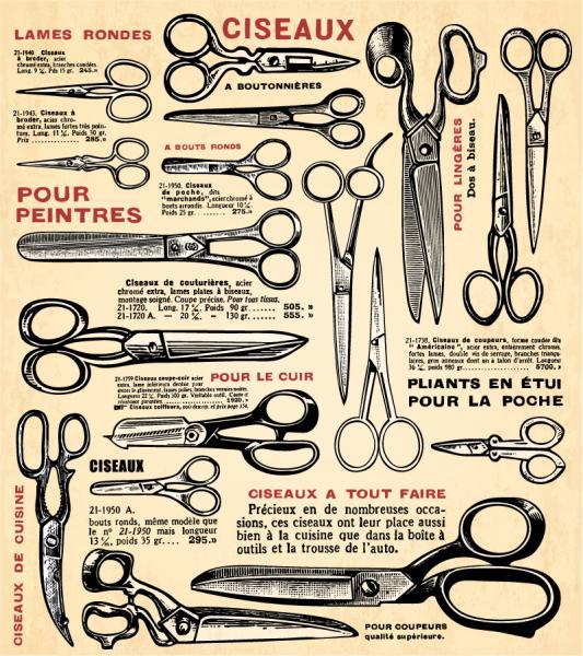 ヴィンテージ ヘアードレッサー デザイン Vintage hairdresser design elements(4)