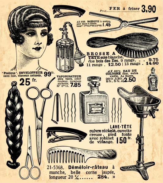 ヴィンテージ ヘアードレッサー デザイン Vintage hairdresser design elements(2)