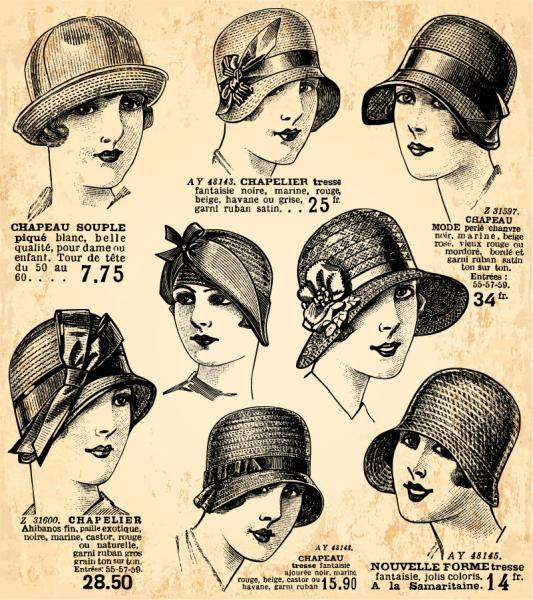 ヴィンテージ ヘアードレッサー デザイン Vintage hairdresser design elements(5)