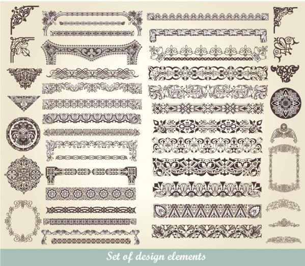 飾り付けたヴィンテージ フレーム・ボーダー Vintage decorative frames and borders1