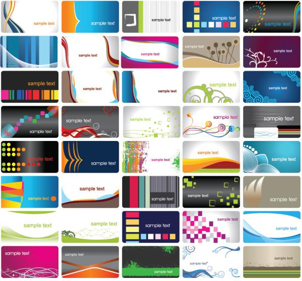 お洒落な背景の名刺テンプレート business card designs with nice backgrounds