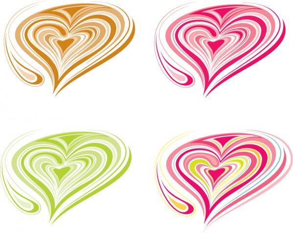 バレンタインデー カード向けカラフルなハート colorful hearts for Valentines day card designs