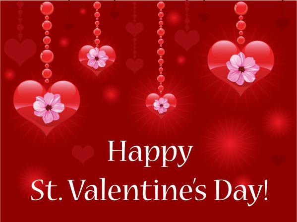 ハートで飾るバレンタインデーの背景 Heart-shaped happy valentines day1