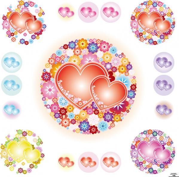 花飾りのバレンタインデーのハート floral heart love valentine