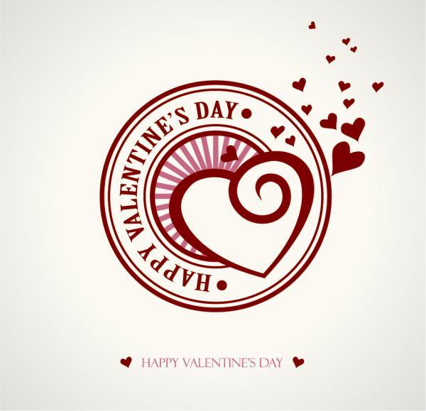 文字で飾るバレンタインデーの背景 Heart valentine day wordart graphics vector2