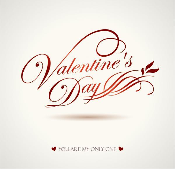 文字で飾るバレンタインデーの背景 Heart valentine day wordart graphics vector5