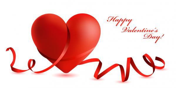 愛らしいハートで型どるバレンタインデー素材 heart-shaped lovely valentine day vector(4)