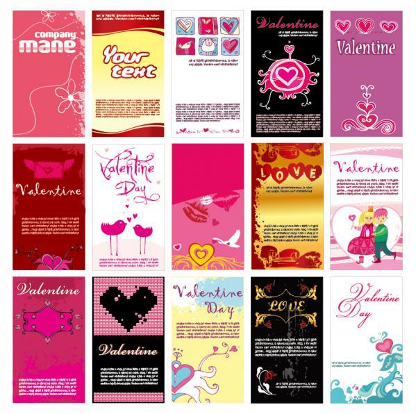 愛らしいハートで型どるバレンタインデー素材 heart-shaped lovely valentine day vector(3)